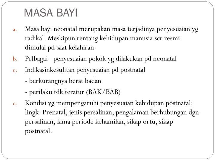 MASA BAYI