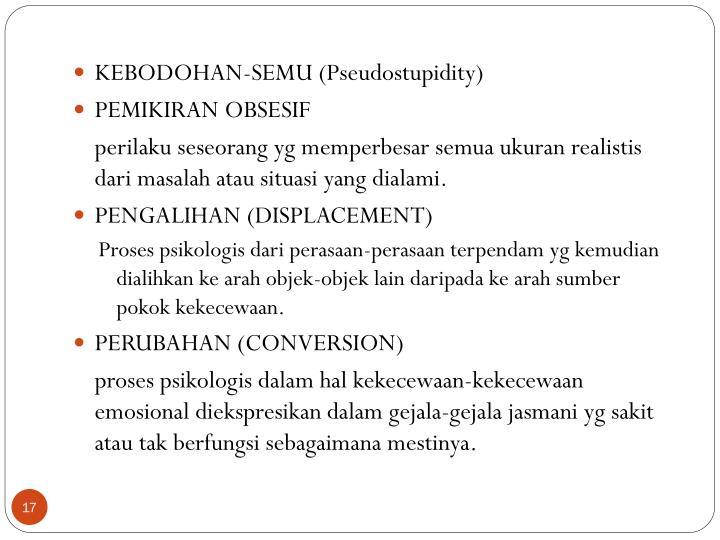KEBODOHAN-SEMU (Pseudostupidity)