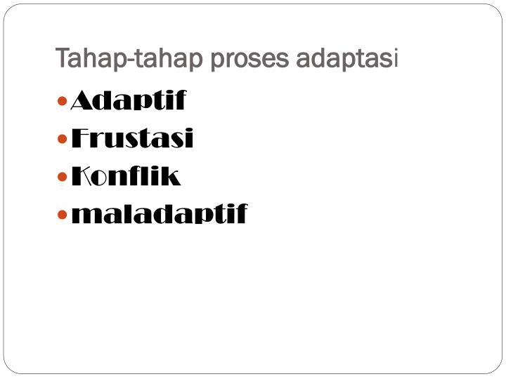 Tahap-tahap proses adaptas