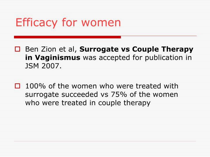 Efficacy for women