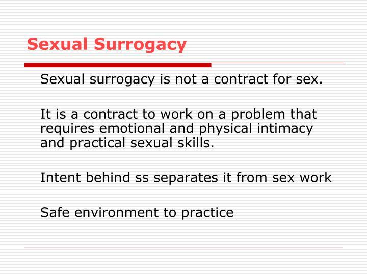 Sexual Surrogacy