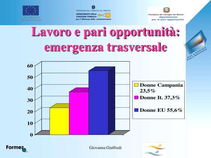 Lavoro e pari opportunità: emergenza trasversale