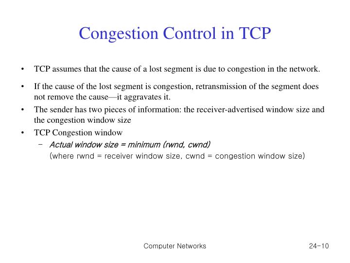 Congestion Control in TCP