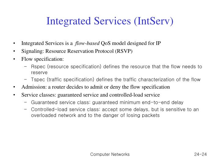 Integrated Services (IntServ)