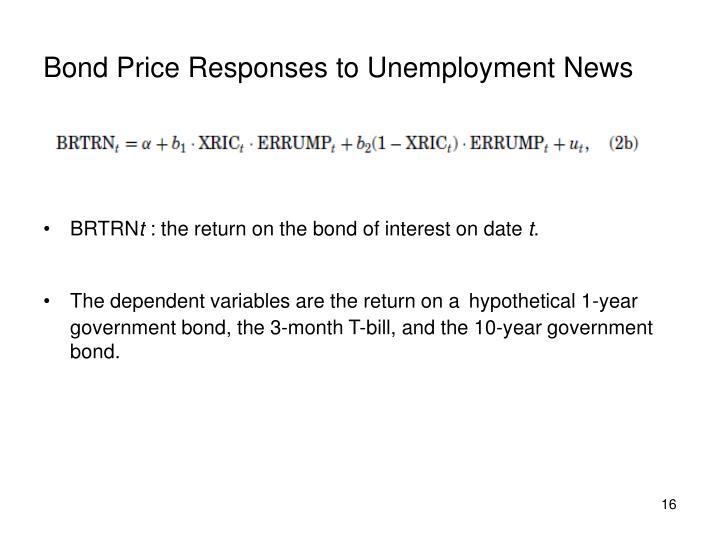 Bond Price Responses to Unemployment News