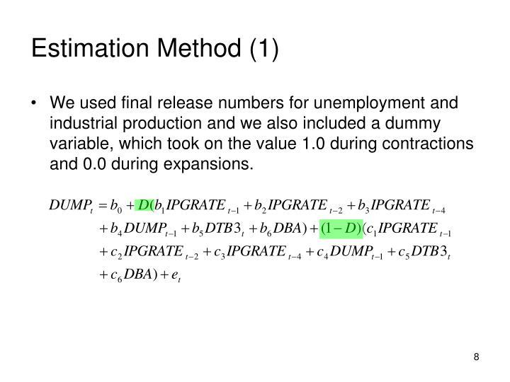 Estimation Method (1)