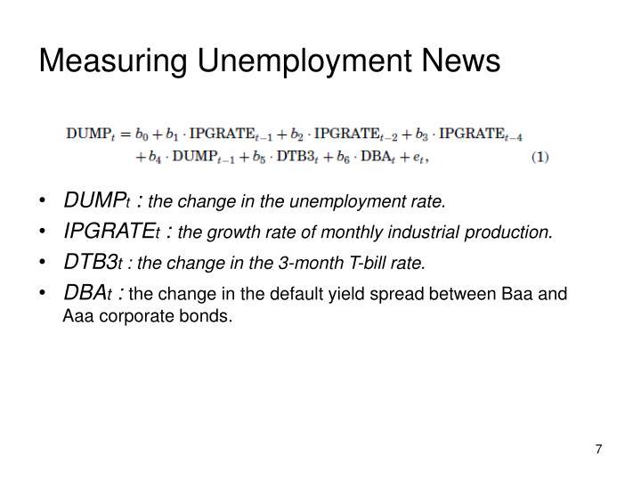 Measuring Unemployment News