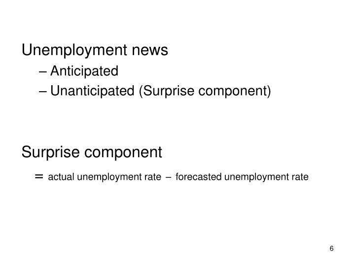 Unemployment news