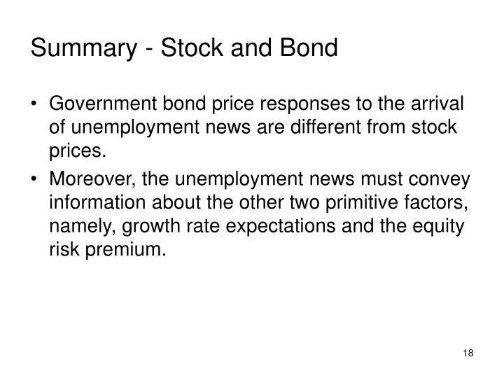 Summary - Stock and Bond