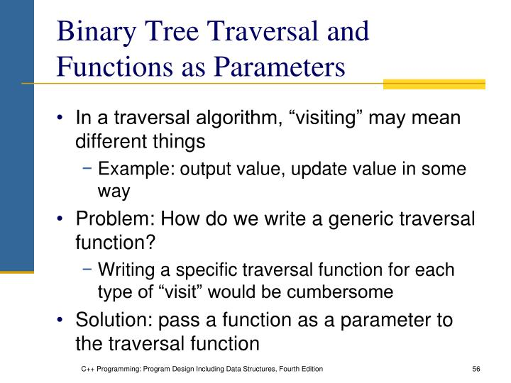 Binary Tree Traversal and Functions as Parameters