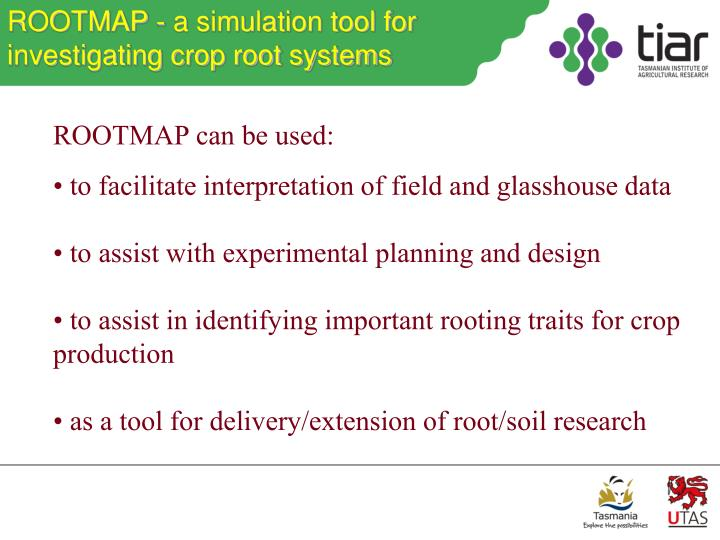 ROOTMAP - a simulation tool for investigating crop root systems