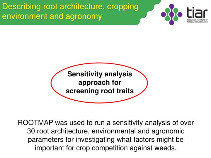 Describing root architecture, cropping