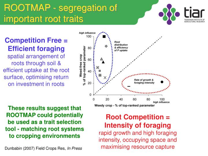 ROOTMAP - segregation of important root traits