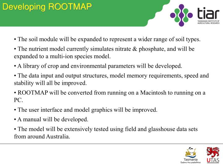 Developing ROOTMAP