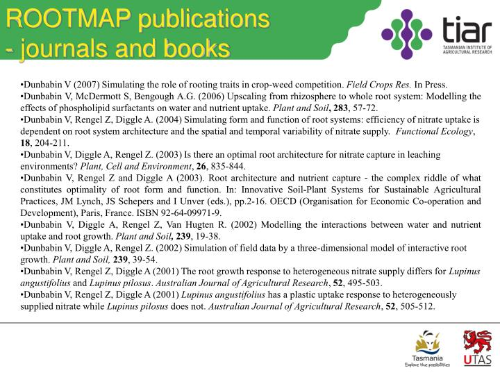 ROOTMAP publications