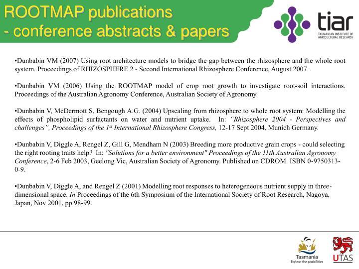 ROOTMAP publications