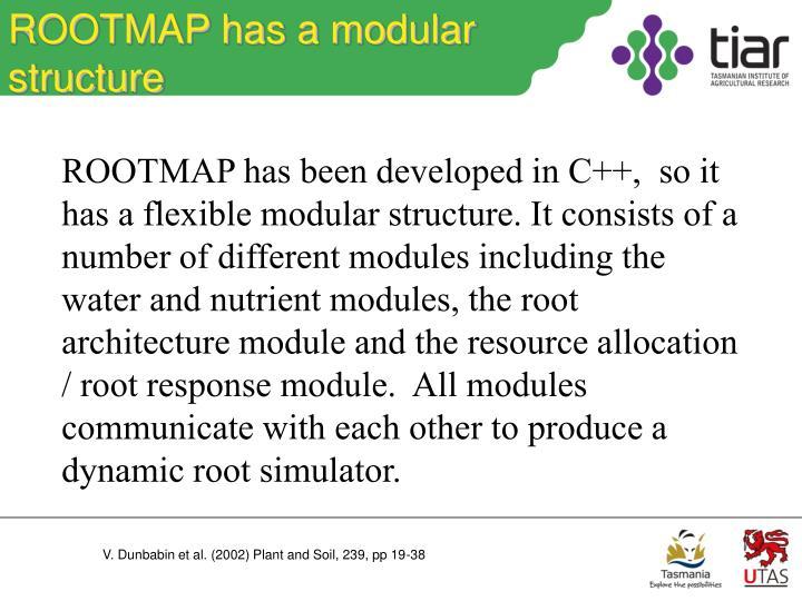 ROOTMAP has a modular