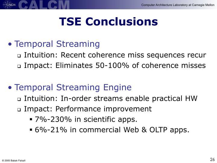 TSE Conclusions
