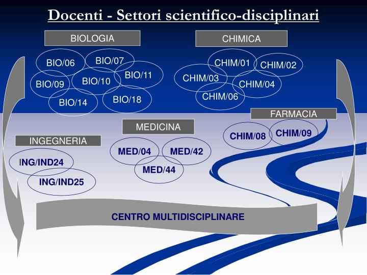 Docenti - Settori scientifico-disciplinari