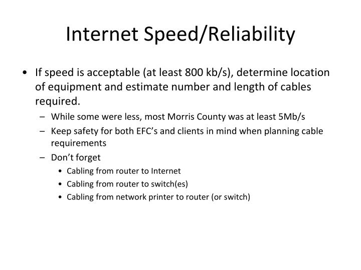 Internet Speed/Reliability