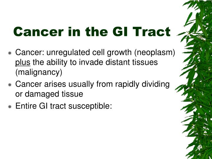 Cancer in the GI Tract