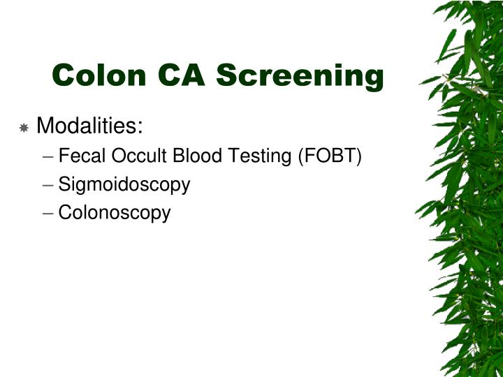 Colon CA Screening