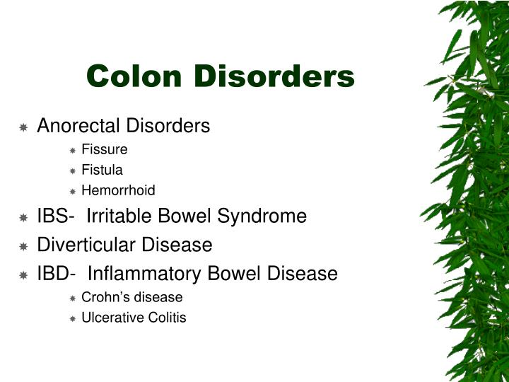 Colon disorders