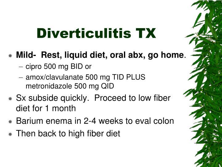 Diverticulitis TX