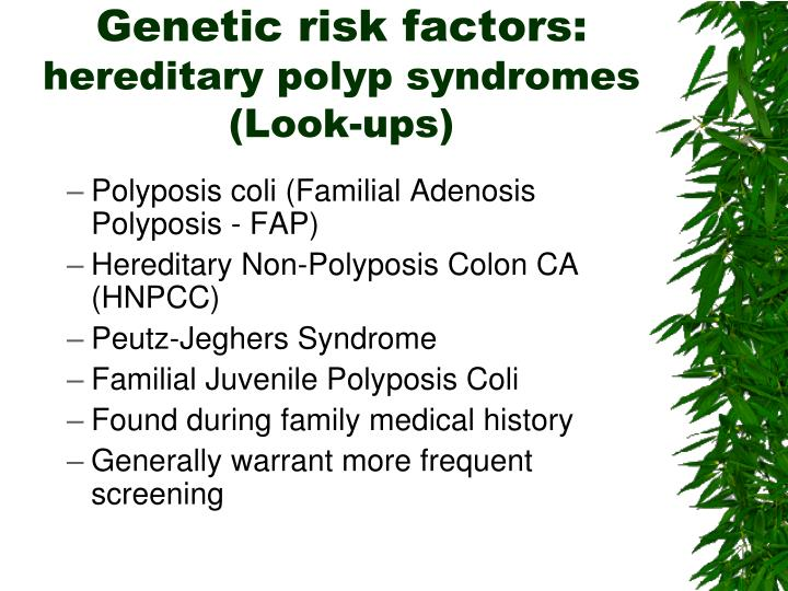 Genetic risk factors: