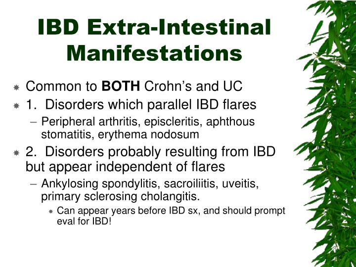 IBD Extra-Intestinal Manifestations