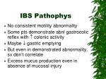 ibs pathophys