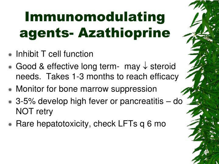 Immunomodulating agents- Azathioprine