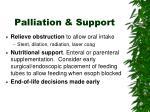 palliation support