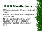 s s diverticulosis