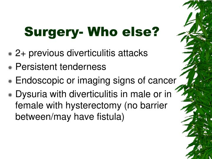 Surgery- Who else?