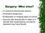 surgery who else