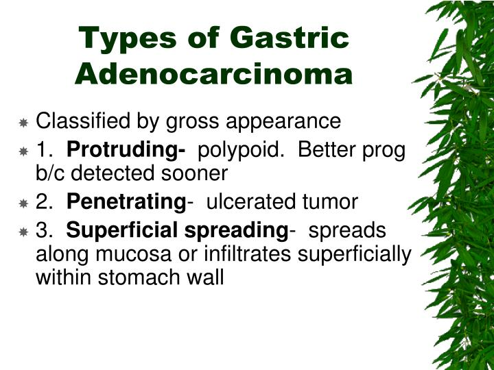 Types of Gastric Adenocarcinoma