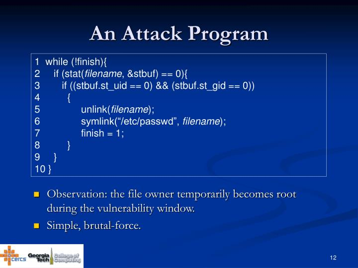 An Attack Program