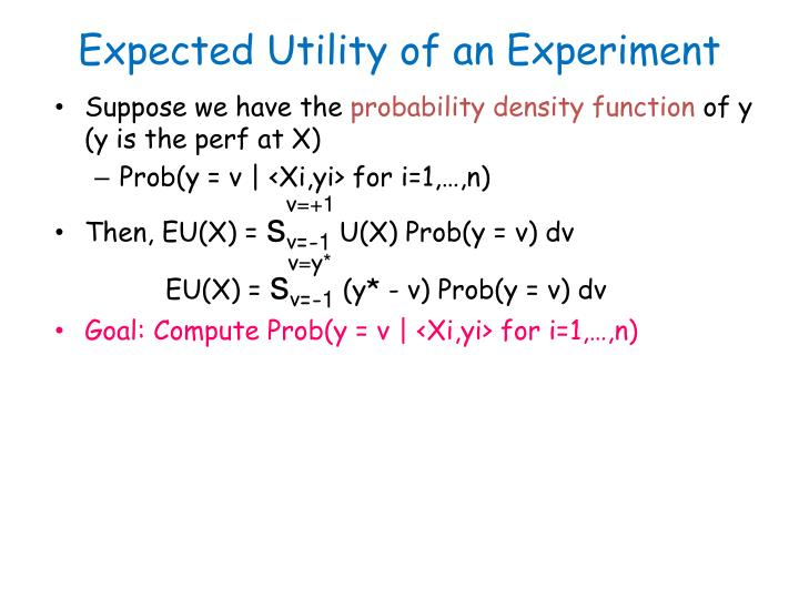Expected Utility of an Experiment