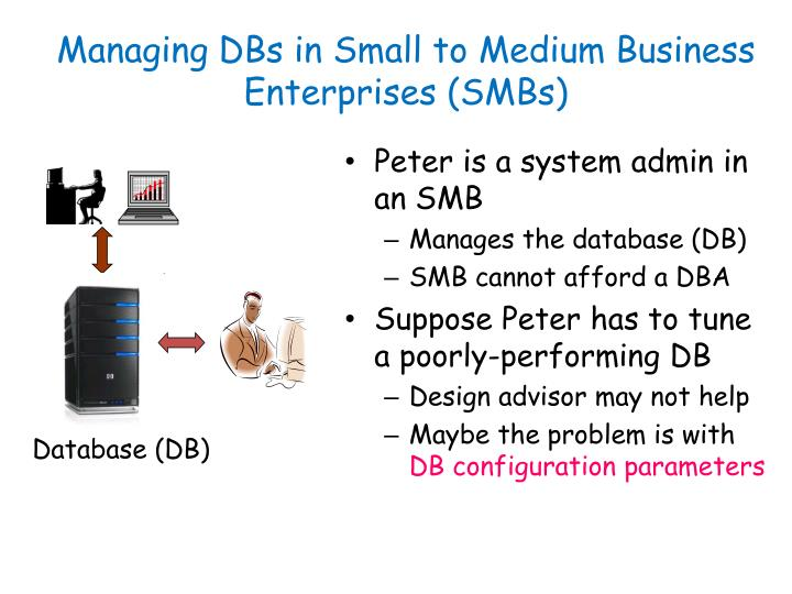 Managing DBs in Small to Medium Business Enterprises (SMBs)