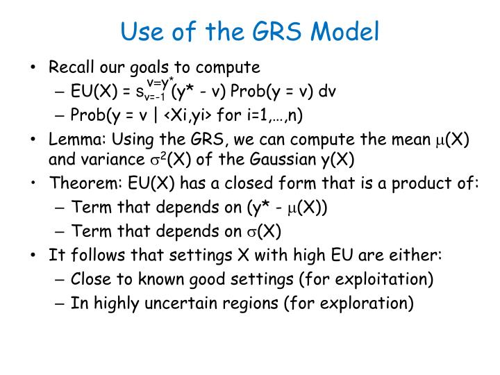 Use of the GRS Model