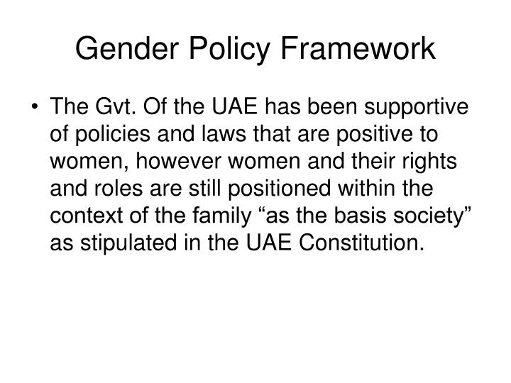 Gender Policy Framework