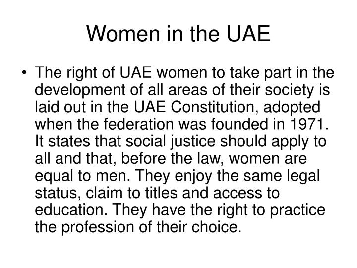 Women in the UAE
