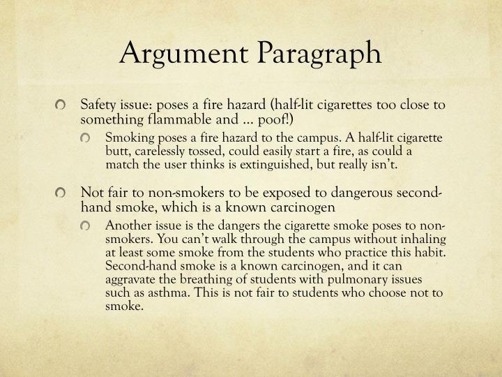 Argument Paragraph