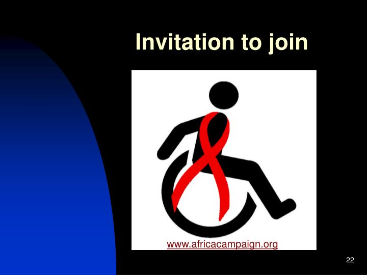 Invitation to join