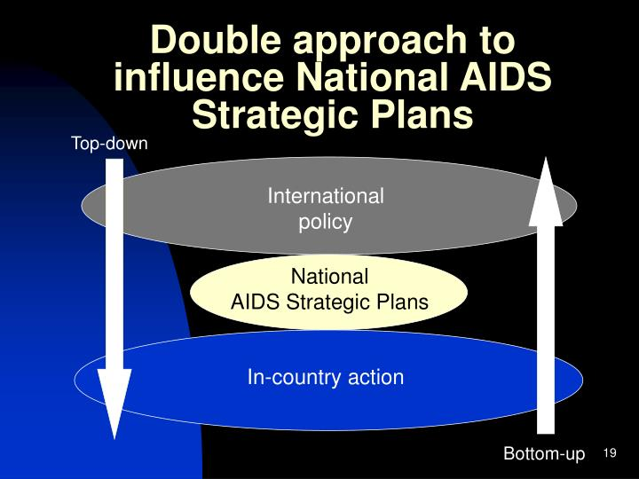 Double approach to influence National AIDS Strategic Plans