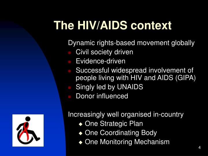 The HIV/AIDS context