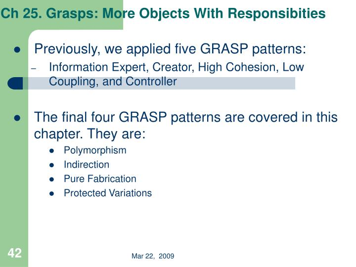 Ch 25. Grasps: More Objects With Responsibities