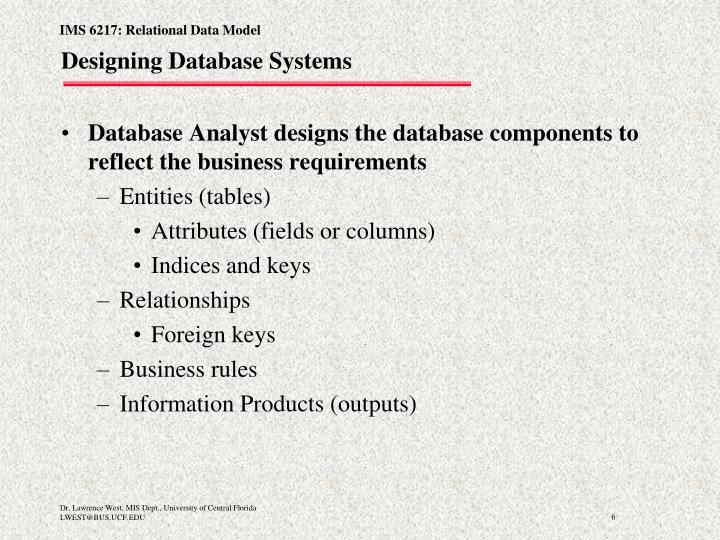 Designing Database Systems