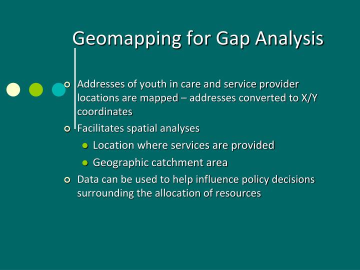 Geomapping for Gap Analysis